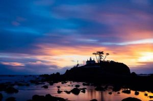battery point lighthouse, pacific ocean, crescent city, northern california
